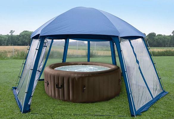 abri pour piscine hors sol et spas gonflables gr. Black Bedroom Furniture Sets. Home Design Ideas