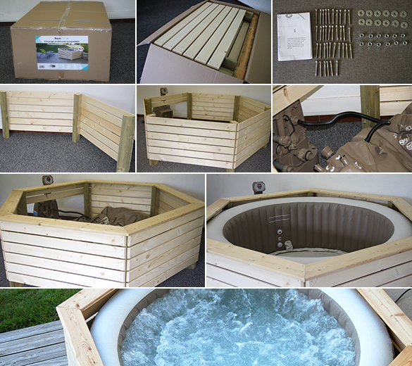 pack spa gonflable intex rond bulles 4 places avec. Black Bedroom Furniture Sets. Home Design Ideas