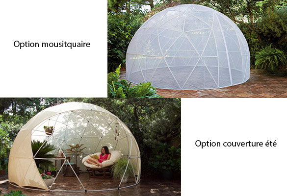 Abri Garden Igloo pour piscines & spas : couvertures en option
