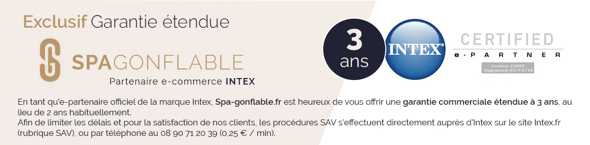 Spa Gonflable Purespa Sahara Rond Bulles 4 Places Intex