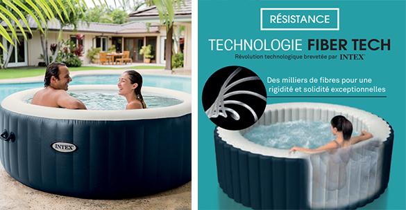 spa gonflable intex 4 places rond bulles led. Black Bedroom Furniture Sets. Home Design Ideas